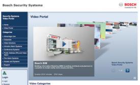 Bosch Video Portal Trains, Informs