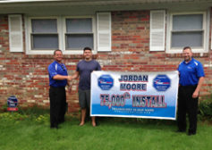 Mr. Jorand Moore was the 75,000th install for Power Home Technologies