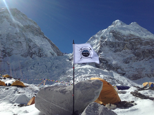 A shot of the Mauriz's tent at the base camp located in the northern part of the Everest Base Camp.  Credit: All Photos courtesy of Mariuz Malkowski.