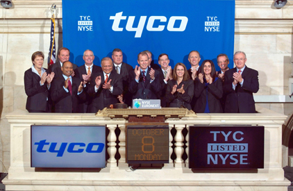 new tyco ceo discusses first week as a public company from the nyse