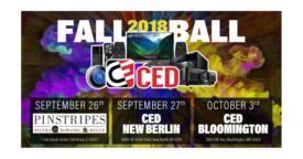 C.E.D. Fall Ball logo