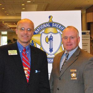 Keith Jentoft and Sheriff Paul Fitzgerald