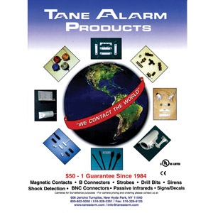 Tane Alarm Product Catalog
