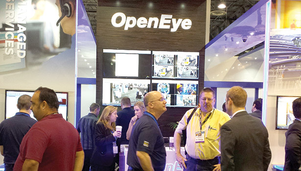 OpenEye's focus on long-term customer relationships made the company's booth a popular place to visit at ISC West 2014. PHOTO BY SDM STAFF