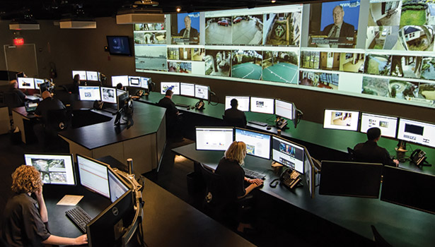 Central stations are the epicenters of the security industry. Pictured here, THRIVE Intelligence monitoring and response center in Texas.