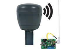 The wireless battery driveway monitor with single channel slave receiver (STI-34159) is designed to work in conjunction with a control panel.