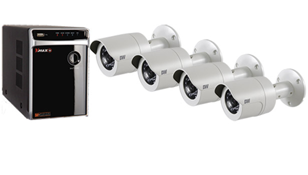 The VMAX IP Complete Solution offers a user-friendly NVR and four 2.1MP cameras