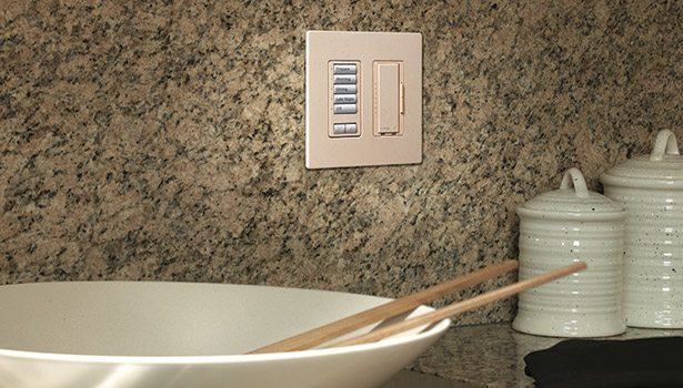 PHOTO COURTESY OF LUTRON With lighting control, a single interface can control multiple lights in a room.