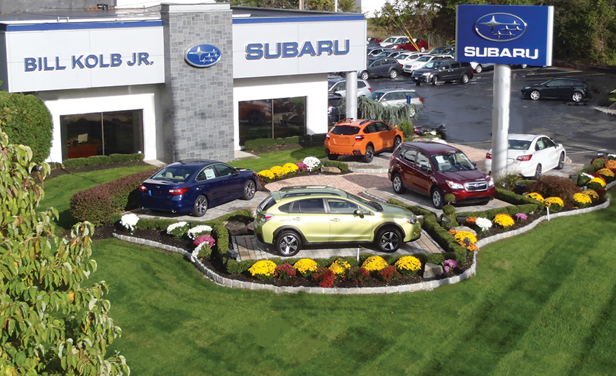 Bill Kolb Jr. Subaru relies on a combination of video and audio to deter car thefts. PHOTO COURTESY OF LOUROE ELECTRONICS