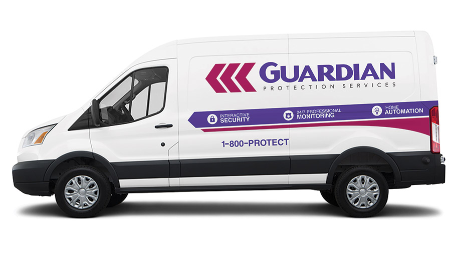 Guardian designed a vehicle wrap to reflect the rebranding. The wrap made its debut in March on a fleet of Ford Transit vans.