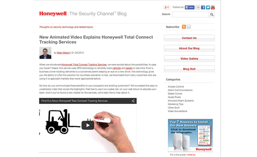 Honeywell Total Connect Tracking Services