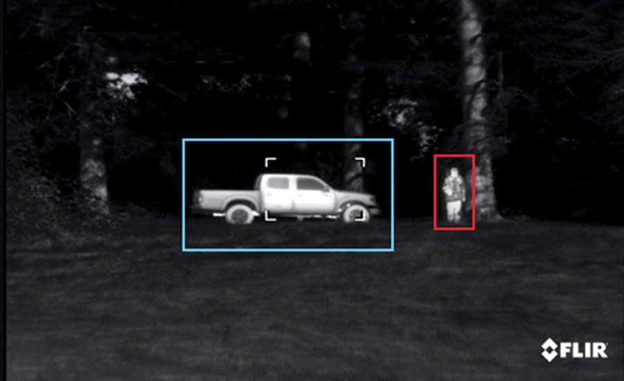 Thermal imaging cameras may be a good option for protecting areas that lack power for lighting.