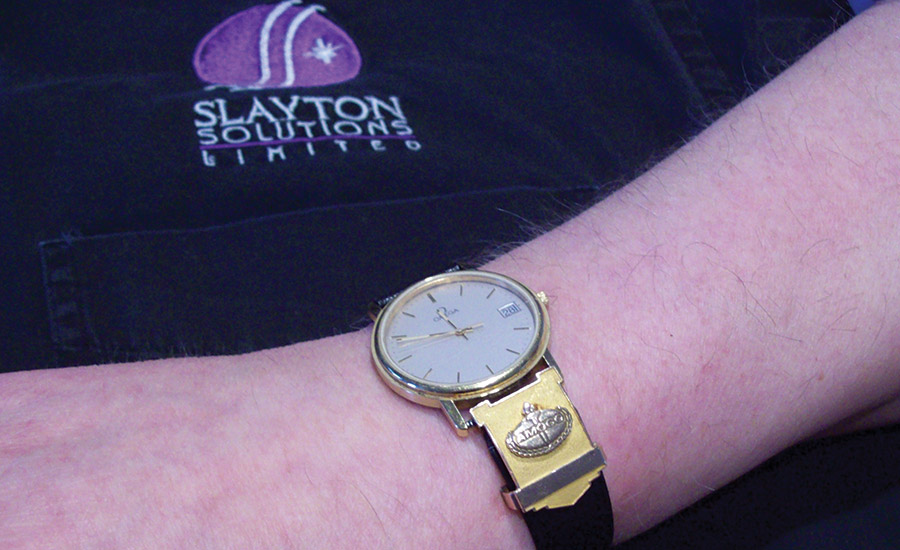 A true rarity, this is my father's gold watch awarded for 36 years of oil company service. Thanks for everything, Dad.