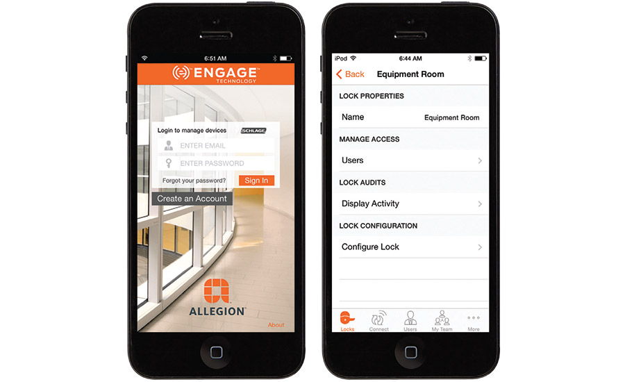 Schlage NDE Wireless locks with ENGAGE Technology platform from Allegion