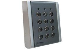 CV-710SL is Camden Door Controls' new metal backlit Wiegand keypad