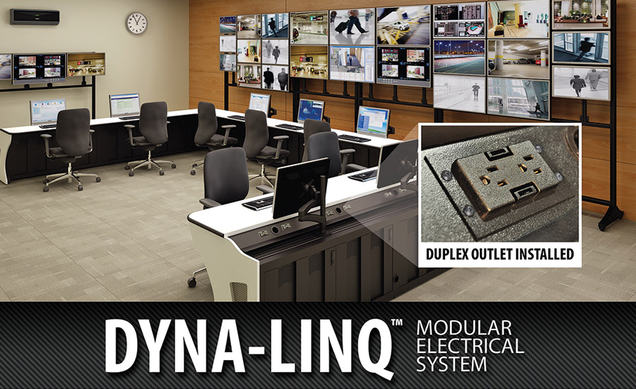 Dyna-Linq modular electrical system is specifically designed for Winsted's Sight-Line and Insight console systems