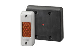 Guardian vandal-resistant and Gibraltar bullet-resistant contactless proximity card readers by Farpointe Data,