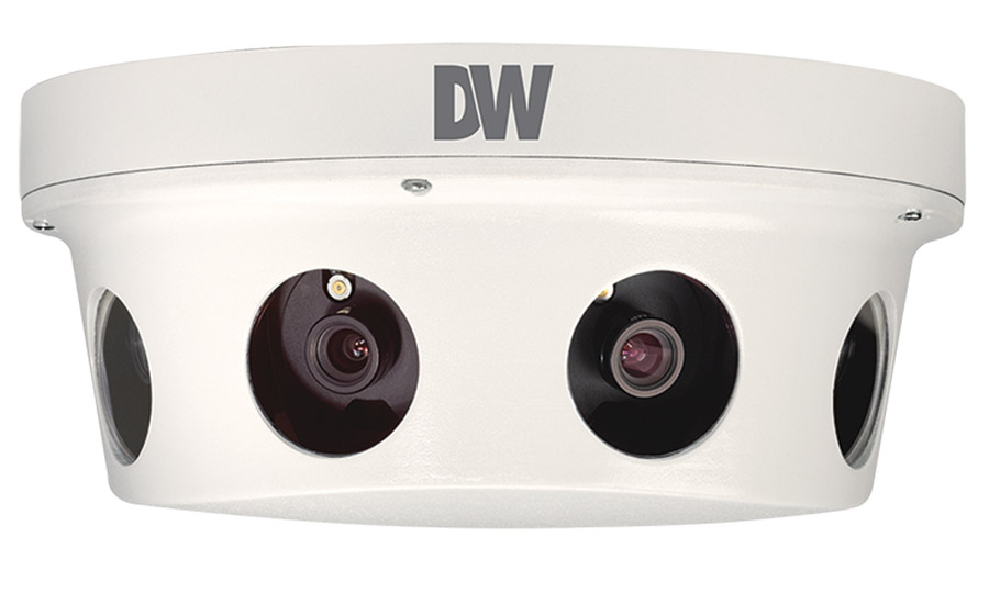 The Digital Watchdog MEGApix PANO 8MP and 48/32MP 180-deg. view cameras are multi-sensor IP cameras designed to deliver full frame HD video streams at up to 30fps