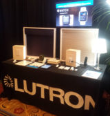 At ISC West, Lutron showcases  its app on an Apple Watch. Credit: SDM magazine staff